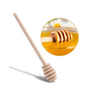 Houten honinglepel
