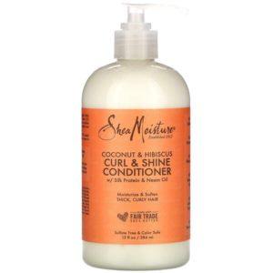 SheaMoisture, Curl & Shine Conditioner, Coconut & Hibiscus